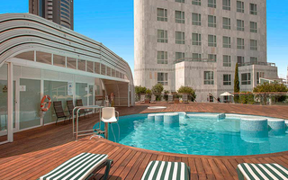 The Sercotel Sorolla Palace pool is located on the terrace ...